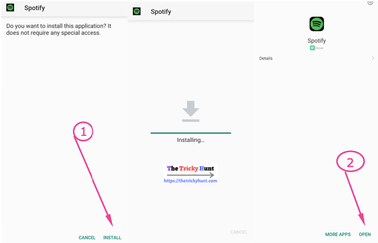 Spotify Premium APK Installation