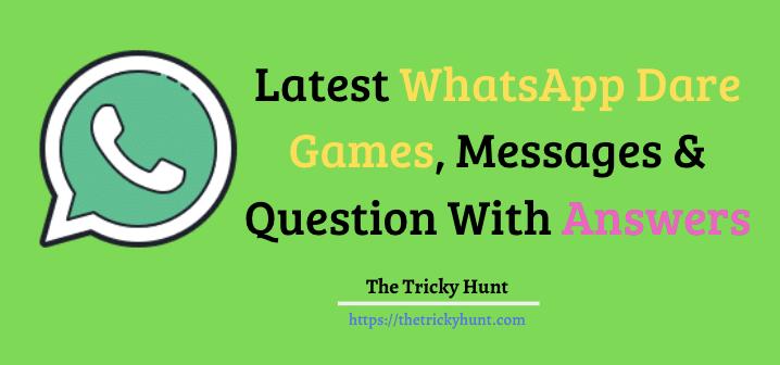 WhatsApp Dare Games Collection