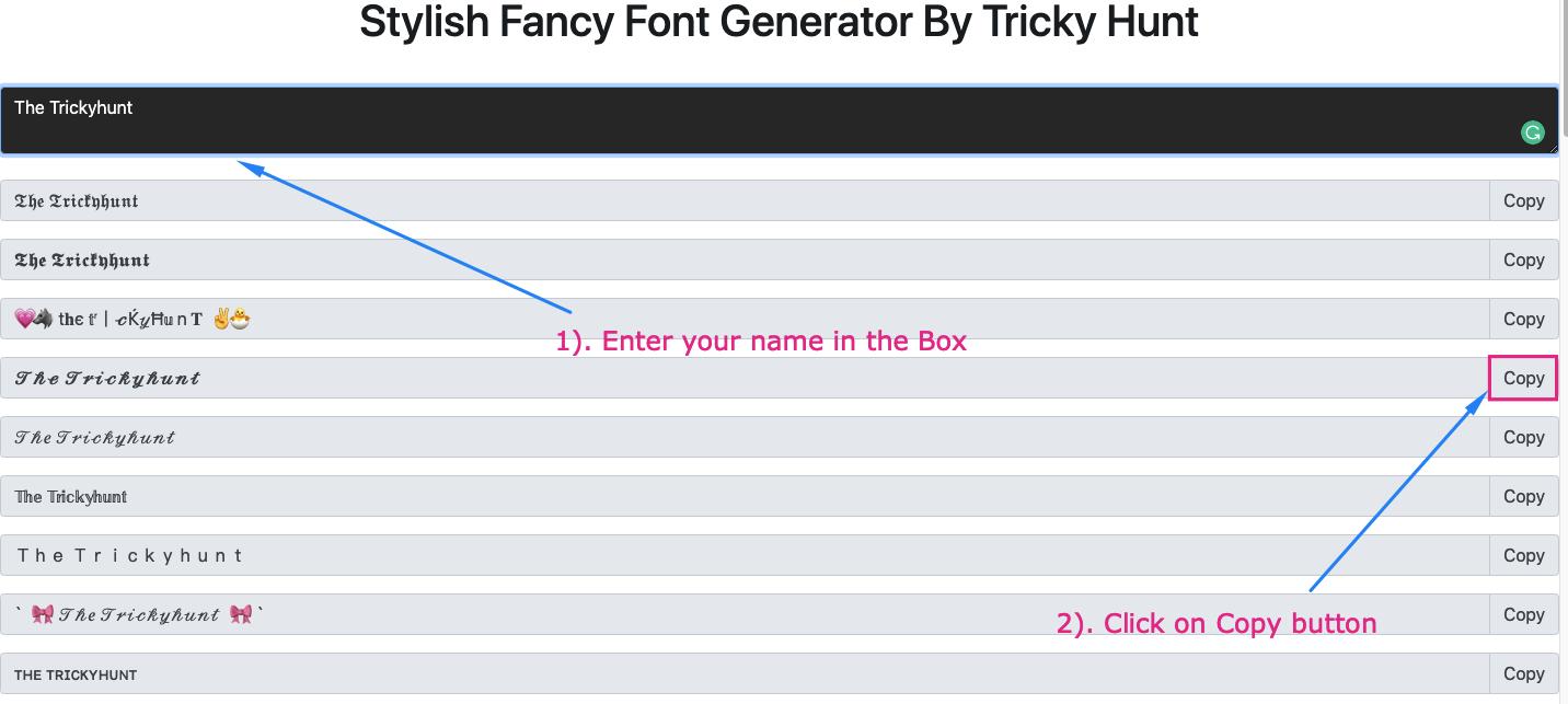 stylish font generator